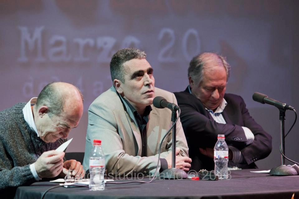 Juan Madrid, Alejandro Gallo y Felipe Alcaraz