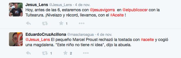 Tuiteratura aceitosa II. An the winner is... @masclaroagua