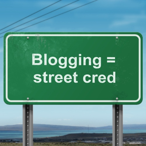 Blogging = street card