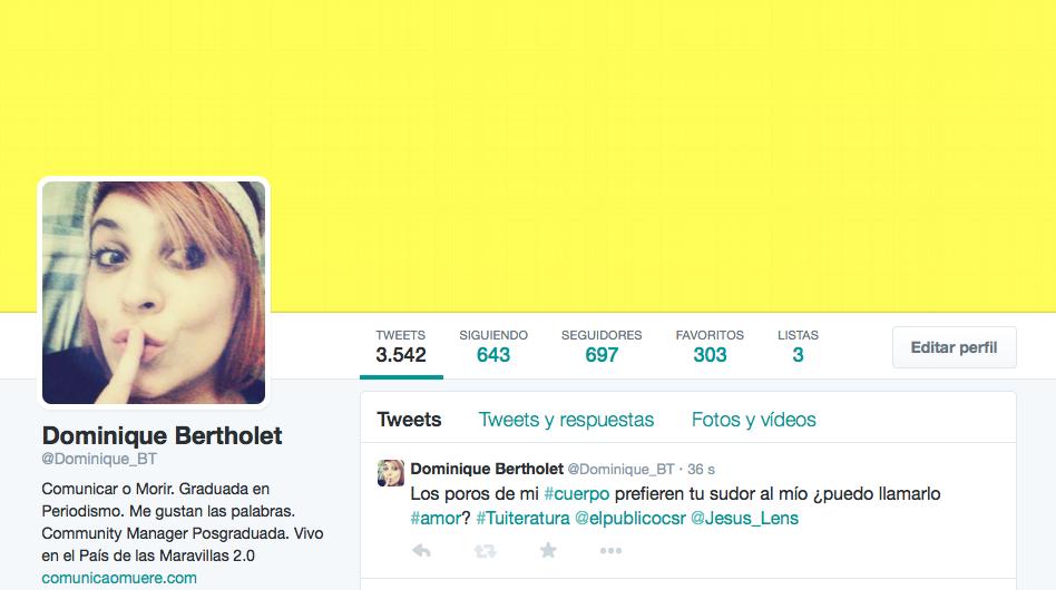 Tuiteratura con cuerpo Dominique Bertholet Jesús Lens El Público Jesús Vigorra Canal Sur Radio Twitter