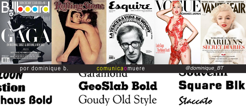 5 tipografias de revista (gratis) dominique b. comunicaomuere casi publicista